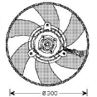 Ventilateur refroidissement du moteur 12V de 97 à 04 - OEM : 6K0959455A