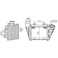 Intercooler, échangeur de 91 à 97 - OEM : 1H0145805B
