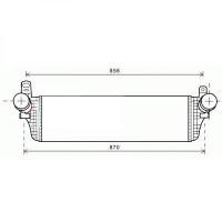 Intercooler, échangeur 715 x 215 de 09 à >> - OEM : 7E0145804A