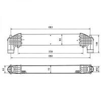 Intercooler, échangeur boite manuelle de 95 à 00 - OEM : 95VW9L440AA