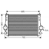 Intercooler, échangeur de 02 à 10 - OEM : 7M3145804