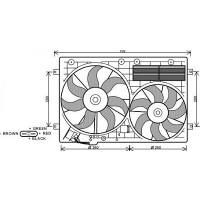 Ventilateur refroidissement du moteur de 03 à 10 - OEM : 1K0959455R