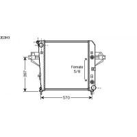 Radiateur, refroidissement du moteur 510 x 530 de 01 à >> - OEM : 52080118AB