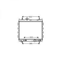 Radiateur, refroidissement du moteur 460 x 507 pour boite manuelle de 00 à >> - OEM : 5017404AB
