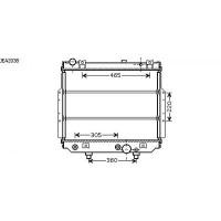 Radiateur, refroidissement du moteur 500 x 617 pour boite auto de 99 à 02 - OEM : 52079498