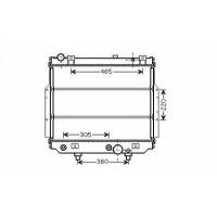 Radiateur, refroidissement du moteur 500 x 620 x 57 de 99 à 05 - OEM : 52079498