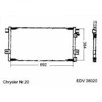 Radiateur, refroidissement du moteur 565 x 498 de 93 à 97 - OEM : 52028098