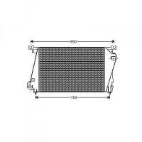 Intercooler, échangeur Largeur [mm]: 375 de 96 à 01 - OEM : 4798014