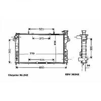 Radiateur, refroidissement du moteur 768 x 414 pour boite auto de 01 à 07 - OEM : 4809225AE
