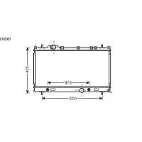 Radiateur, refroidissement du moteur 350 x 630 de 99 à 04 - OEM : 5019214