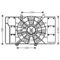 Ventilateur condenseur de climatisation de 00 à >> - OEM : 5014579AA