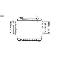 Radiateur, refroidissement du moteur 460 x 508 x 35 de 87 à 07 - OEM : 52040781