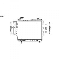 Radiateur, refroidissement du moteur 460 x 508 x 45 de 87 à 07 - OEM : 8952040288