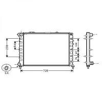 Radiateur, refroidissement du moteur 658 x 414 de 98 à 00 - OEM : 60690408
