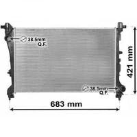Radiateur, refroidissement du moteur 619 x 410 de 2012 à >> - OEM : 51887947