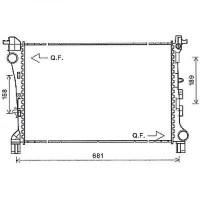 Radiateur, refroidissement du moteur 617 x 395 12->> 617x395mm