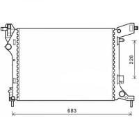 Radiateur, refroidissement du moteur 538 x 412 de 2012 à >> - OEM : 51887898