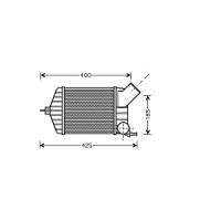 Intercooler, échangeur de 99 à 05 - OEM : 46764253