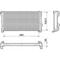 Radiateur, refroidissement du moteur boite manuelle pour modèles sans clim de 03 à >>