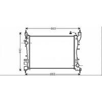 Radiateur, refroidissement du moteur 540 x 375 x 28 pour boite manuel de 07 à >> - OEM : 51784706