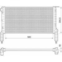 Radiateur, refroidissement du moteur 580 x 305 x 16 pour boite manuelle de 01 à 05 - OEM : 46803031