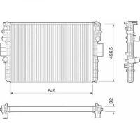 Radiateur, refroidissement du moteur 650 x 456 x 32 pour boite manuel de 02 à >> - OEM : 504045487