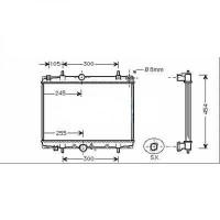Radiateur, refroidissement du moteur boite manuelle de 02 à >> - OEM : 9641728180
