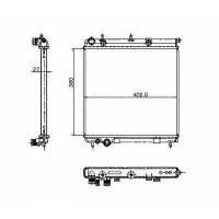 Radiateur, refroidissement du moteur 380 x 402 x 26 de 02 à >> - OEM : 9638520480
