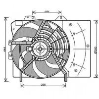 Ventilateur refroidissement du moteur pour numéro OE: 1253H5 de 03 à >> - OEM : 1253P9