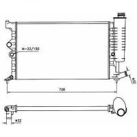 Radiateur, refroidissement du moteur 610 x 377 de 99 à 00