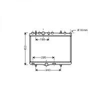 Radiateur, refroidissement du moteur 380 x 545 de 04 à >> - OEM : 1330P9