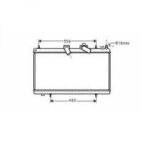 Radiateur, refroidissement du moteur 380 x 702 x 33 de 04 à >> - OEM : 9649815280
