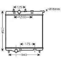 Radiateur, refroidissement du moteur 380 x 705 de 04 à >>