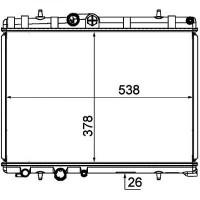 Radiateur, refroidissement du moteur 380 x 558 de 05 à >> - OEM : 133393