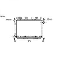 Radiateur, refroidissement du moteur 510 x 375 x 34 de 05 à >> - OEM : 21410BC510
