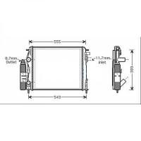 Module de refroidissement avec condensateur de 03 à >> - OEM : 8200778910