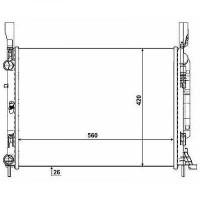 Radiateur, refroidissement du moteur 560 x 420 x 26 de 08 à >> - OEM : 8200418328