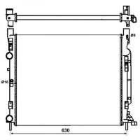 Radiateur, refroidissement du moteur 560 x 480 x 24 de 08 à >> - OEM : 8200455801
