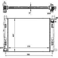 Radiateur, refroidissement du moteur de 2012 à >> - OEM : 214107326R