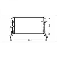 Radiateur, refroidissement du moteur 690 x 368 x 32 de 07 à >> - OEM : 214100005R