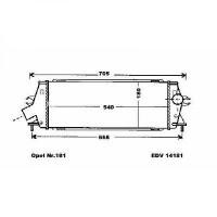 Intercooler, échangeur Épaisseur [mm]: 40 de 06 à >> - OEM : 93854162