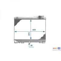 Radiateur, refroidissement du moteur 375 x 450 de 82 à 87 - OEM : 1777702