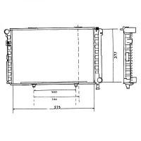 Radiateur, refroidissement du moteur 574 x 368 de 82 à 93 - OEM : A2015001903
