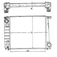 Radiateur, refroidissement du moteur 440 x 328 de 87 à 90 - OEM : 1719822