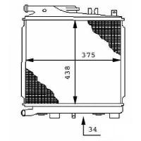 Radiateur, refroidissement du moteur 375 x 438 de 85 à 87 - OEM : 17111709352