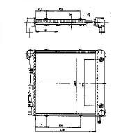Radiateur, refroidissement du moteur 410 x 370 de 83 à 93