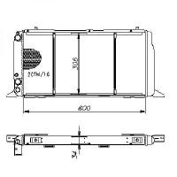 Radiateur, refroidissement du moteur 600 x 310 de 86 à 91 - OEM : 893121251A