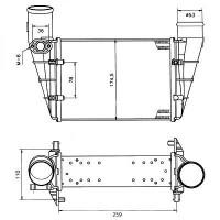 Intercooler, échangeur de 95 à >> - OEM : 058145805H