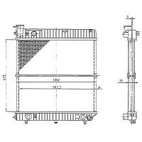 Radiateur, refroidissement du moteur 473 x 530 de 86 à 00 - OEM : A601507003