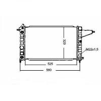 Radiateur, refroidissement du moteur 525 x 322 de 88 à 95